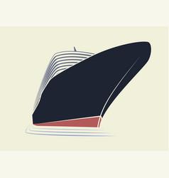 Big nose a cruise liner simple logo ship vector