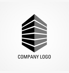 Building icon for company logo vector