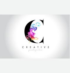 C vibrant creative leter logo design vector