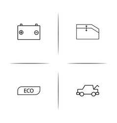 Cars and transportation linear simple icon vector