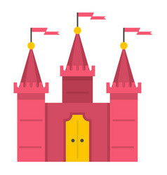 Castle icon isolated vector