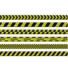 caution police black and yellow striped borders vector image