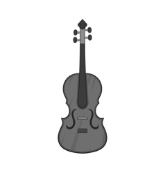 Cello icon black monochrome style vector