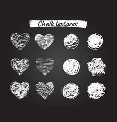 Chalk grunge textures vector