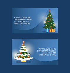 Christmas business card merry xmas visiting vector