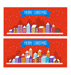 christmas decor design winter street vector image