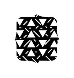 Contour quadrate with geometric graphic memphis vector