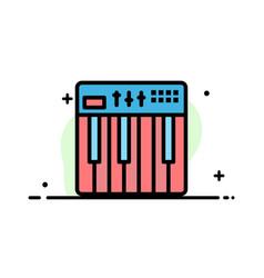 Controller hardware keyboard midi music business vector