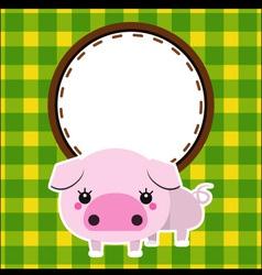 Cute piggy vector image