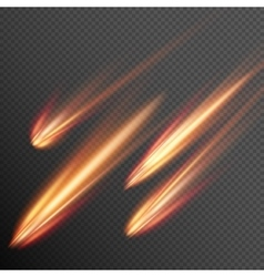 Different meteors comets and fireballs eps 10 vector