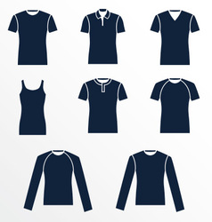 Different types of mens t-shirts vector image