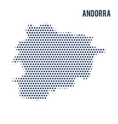 dotted map of andorra isolated on white background vector image