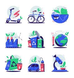 eco concept cartoon ecology vector image