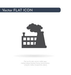 factory icon for web business finance and vector image