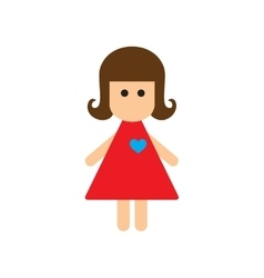 Flat web icon on white background girl vector