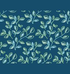 fresh spring color decorative leaves pattern vector image