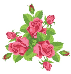 funny bouquet of roses vector image