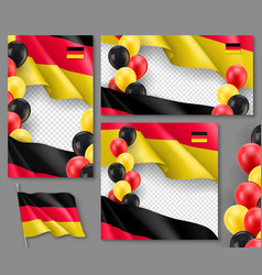 germany country patriotic templates set vector image