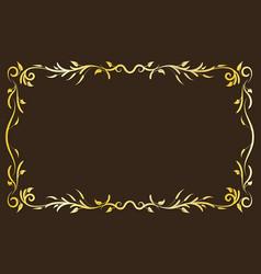 gold antique frame vector image