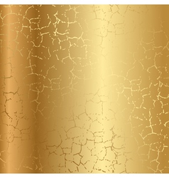 Gold texture with cracks vector image