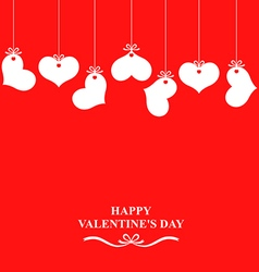 heart hanging red vector image
