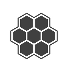Hexagon icon vector