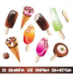 ice creams icon set vector image