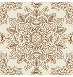 Indian mehendi boho seamless background vector