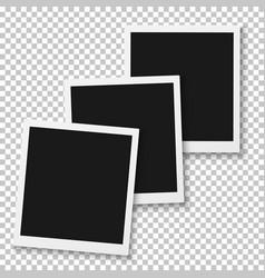 instant photo blank vintage photo frame mockup vector image