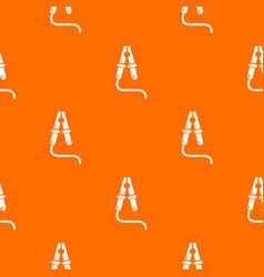 Jumper cable pattern orange vector