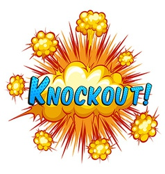 Knockout vector image