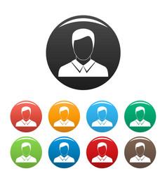 man avatar icons set collection circle vector image