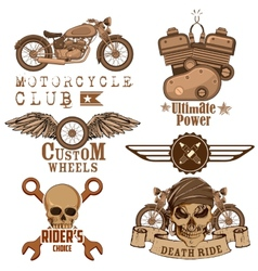 Motorcycle Design Element vector image