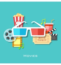 Movie Backround vector image