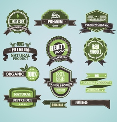 Natural organic label vector