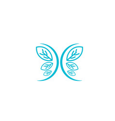 nature leaf logo design icon element vector image