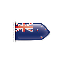 new zealand flag on a white vector image