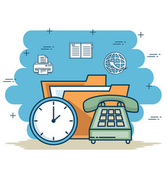 office and business elements concept vector image