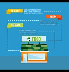 Organic food concept infograhics template vector