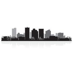 Phoenix usa city skyline silhouette vector