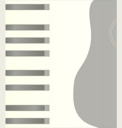 Piano keys and guitar background vector