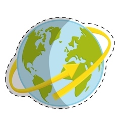 Planet earth icon image vector