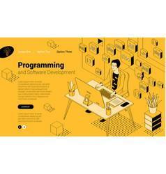 Programmer at work vector