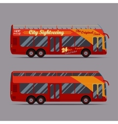 Red double decker bus vector