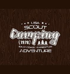 Scout camping emblem vector