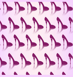 seamless pattern of high heel shoes fashionable vector image
