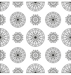 Seamless pattern with circles and spirals vector