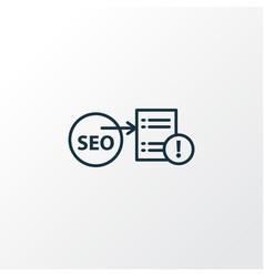 seo report icon line symbol premium quality vector image