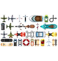 Set aerial transportation vector