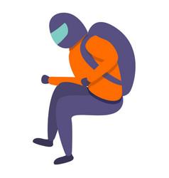 skydiver icon cartoon style vector image